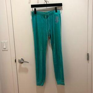 Juicy Couture Blue-Green Velvet sport pant